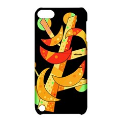 Orange Moon Tree Apple Ipod Touch 5 Hardshell Case With Stand by Valentinaart