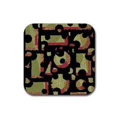 Papyrus  Rubber Square Coaster (4 Pack)  by Valentinaart