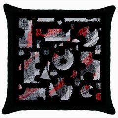 Red Shadows Throw Pillow Case (black) by Valentinaart