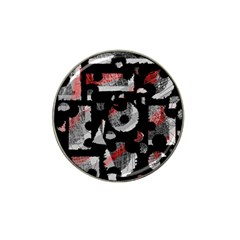 Red Shadows Hat Clip Ball Marker by Valentinaart