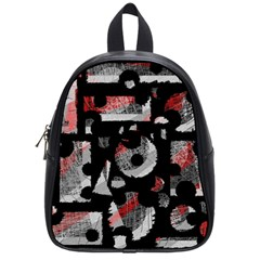Red Shadows School Bags (small)  by Valentinaart