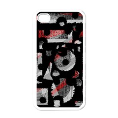 Red Shadows Apple Iphone 4 Case (white) by Valentinaart
