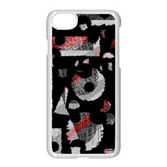 Red Shadows Apple Iphone 7 Seamless Case (white) by Valentinaart