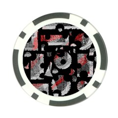Red Shadows Poker Chip Card Guards (10 Pack)  by Valentinaart