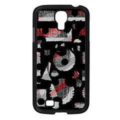 Red Shadows Samsung Galaxy S4 I9500/ I9505 Case (black) by Valentinaart
