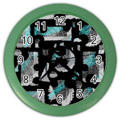 Blue Shadows  Color Wall Clocks by Valentinaart