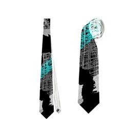 Blue Shadows  Neckties (two Side)  by Valentinaart
