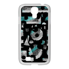 Blue Shadows  Samsung Galaxy S4 I9500/ I9505 Case (white) by Valentinaart