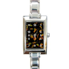 Floral Abstraction Rectangle Italian Charm Watch by Valentinaart
