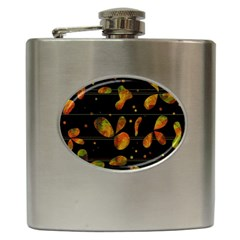 Floral Abstraction Hip Flask (6 Oz) by Valentinaart
