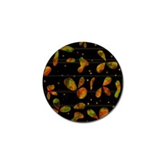 Floral Abstraction Golf Ball Marker by Valentinaart