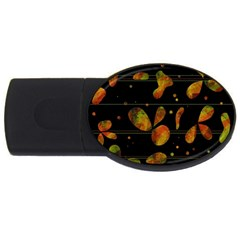 Floral Abstraction Usb Flash Drive Oval (2 Gb)  by Valentinaart