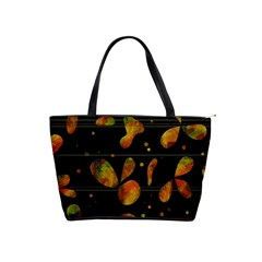 Floral Abstraction Shoulder Handbags by Valentinaart