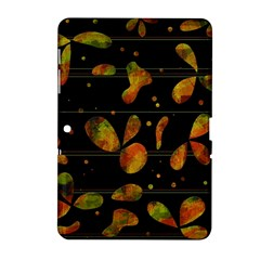 Floral Abstraction Samsung Galaxy Tab 2 (10 1 ) P5100 Hardshell Case  by Valentinaart
