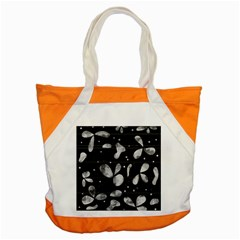 Black And White Floral Abstraction Accent Tote Bag by Valentinaart