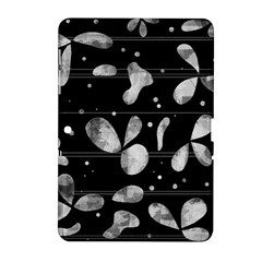 Black And White Floral Abstraction Samsung Galaxy Tab 2 (10 1 ) P5100 Hardshell Case  by Valentinaart