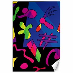 Colorful Shapes Canvas 20  X 30   by Valentinaart