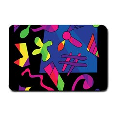 Colorful Shapes Small Doormat  by Valentinaart