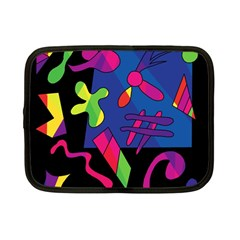 Colorful Shapes Netbook Case (small)