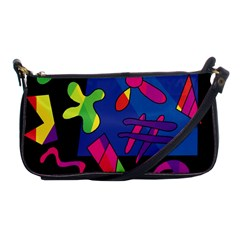Colorful Shapes Shoulder Clutch Bags by Valentinaart