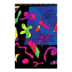 Colorful Shapes Shower Curtain 48  X 72  (small)  by Valentinaart