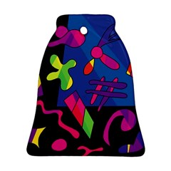 Colorful Shapes Bell Ornament (2 Sides)