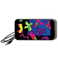 Colorful Shapes Portable Speaker (black)