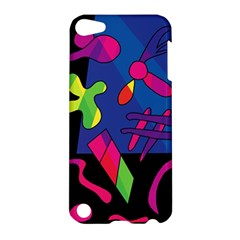 Colorful Shapes Apple Ipod Touch 5 Hardshell Case by Valentinaart