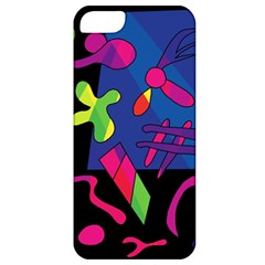 Colorful Shapes Apple Iphone 5 Classic Hardshell Case by Valentinaart