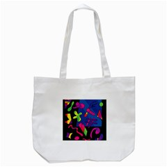 Colorful Shapes Tote Bag (white) by Valentinaart