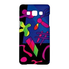 Colorful Shapes Samsung Galaxy A5 Hardshell Case  by Valentinaart