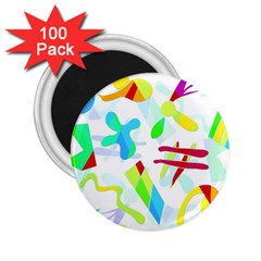 Playful Shapes 2 25  Magnets (100 Pack)  by Valentinaart