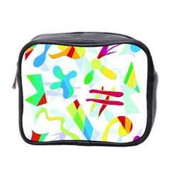 Playful Shapes Mini Toiletries Bag 2 Side by Valentinaart