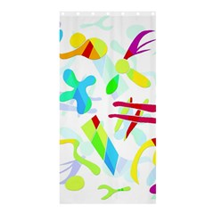 Playful Shapes Shower Curtain 36  X 72  (stall)  by Valentinaart