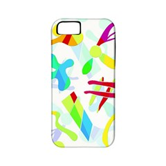 Playful Shapes Apple Iphone 5 Classic Hardshell Case (pc+silicone) by Valentinaart