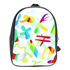 Playful Shapes School Bags (xl)  by Valentinaart