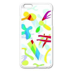Playful Shapes Apple Iphone 6 Plus/6s Plus Enamel White Case by Valentinaart
