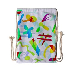 Playful Shapes Drawstring Bag (small) by Valentinaart