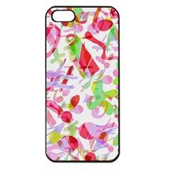 Summer Apple Iphone 5 Seamless Case (black) by Valentinaart