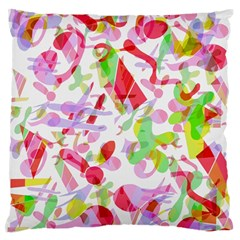 Summer Large Flano Cushion Case (two Sides) by Valentinaart