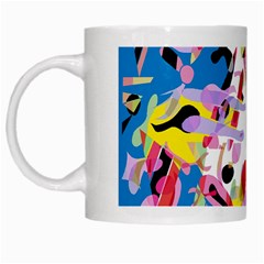 Colorful Pother White Mugs by Valentinaart