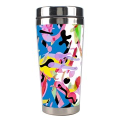 Colorful Pother Stainless Steel Travel Tumblers by Valentinaart