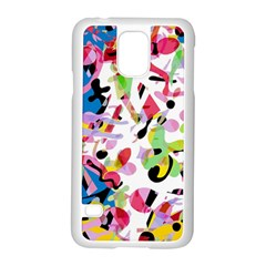Colorful Pother Samsung Galaxy S5 Case (white) by Valentinaart