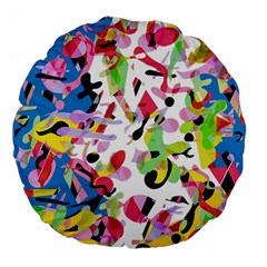 Colorful Pother Large 18  Premium Flano Round Cushions
