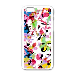 Colorful Pother Apple Iphone 6/6s White Enamel Case by Valentinaart