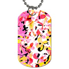 Pink Pother Dog Tag (two Sides)