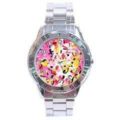 Pink Pother Stainless Steel Analogue Watch by Valentinaart