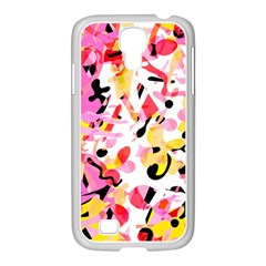 Pink Pother Samsung Galaxy S4 I9500/ I9505 Case (white) by Valentinaart