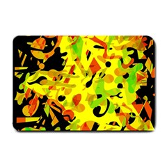 Fire Small Doormat  by Valentinaart