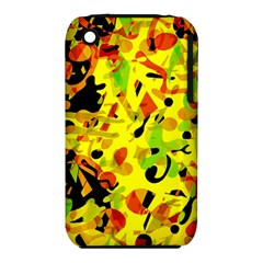 Fire Apple Iphone 3g/3gs Hardshell Case (pc+silicone) by Valentinaart
